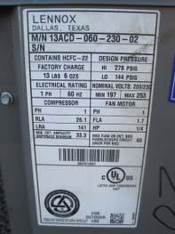 Pierce Food Service Equipment Co Inc 13acd 5 Ton